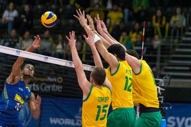 Brasil vence as duas partidas contra a Austrália (Foto: FIVb.com)