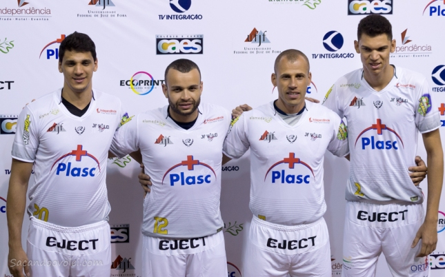 Igor, André (Baiano), Renato e Leandrão já iniciaram os treinamentos com a equipe (Foto: Lucilia Bortone/Sacandoovolei)