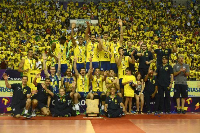 _ Brasil conquista o 30º título do Sul- Americano. (Foto. Confederação Brasileira de Vôlei- CBV).